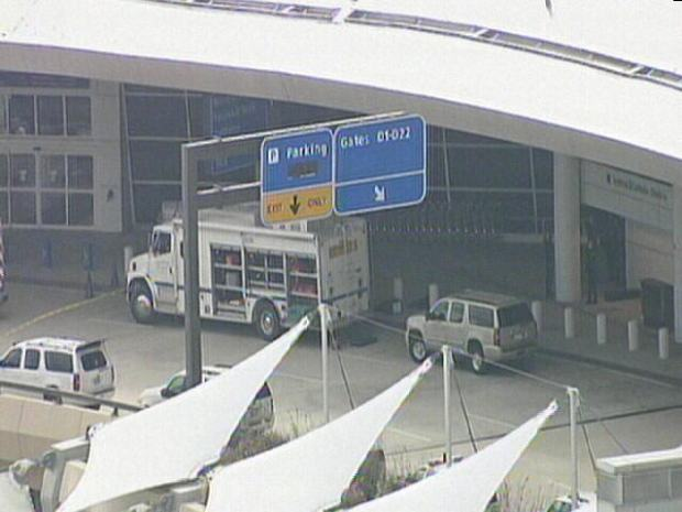 Photos: Suspicious Package at DFW Terminal D
