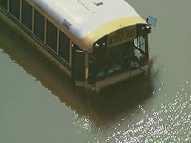 [DFW] Bus Full of Swimmers Crashes into Pond