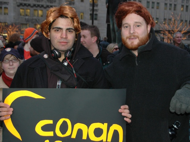 Conan Supporters Wig Out