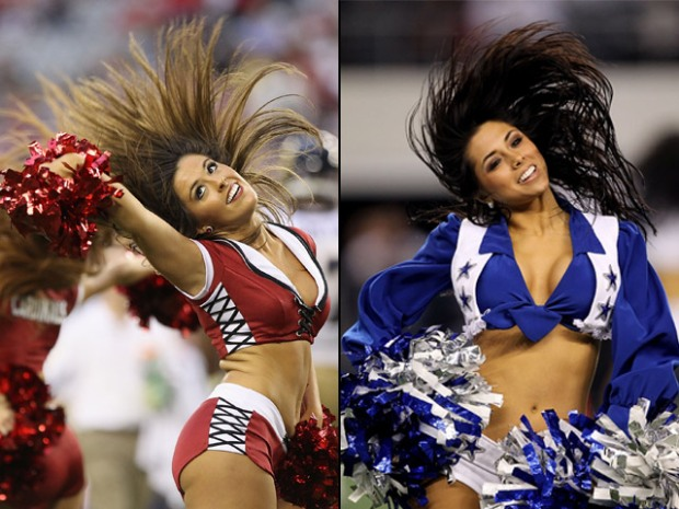 Who's Hotter? Cowboys or Cardinals Cheerleaders?