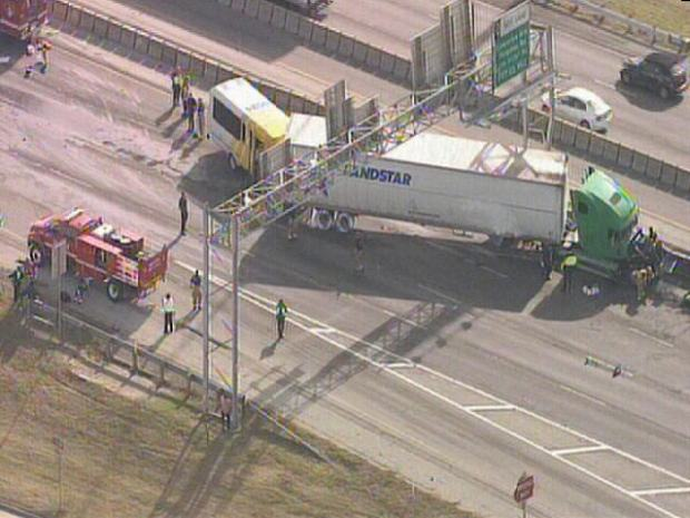 Images: Crash Shuts Down I-30 at Ferguson