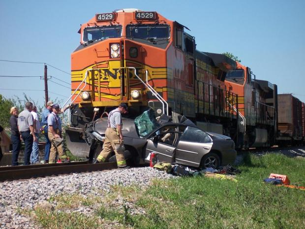 Car vs. Train in Carrollton