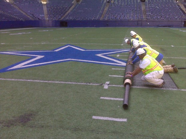 Taking It Down at Texas Stadium