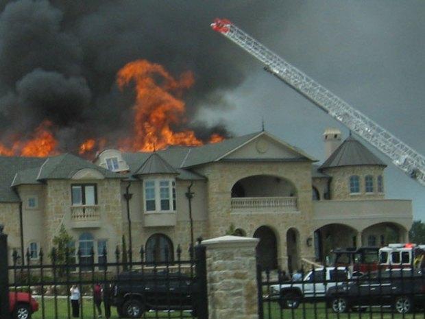 Gallery: Fire Rips Through Massive Home in Heath