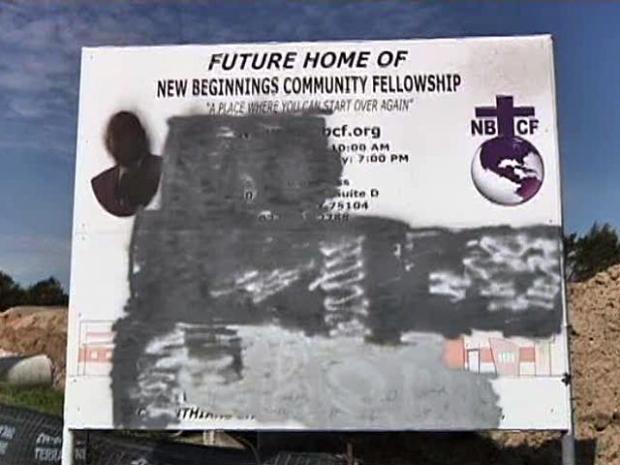 [DFW] Church Construction Sign Defaced With Racial Slur