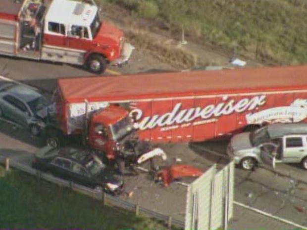 [DFW] Budweiser Big Rig Involved in Multi-Vehicle Wreck