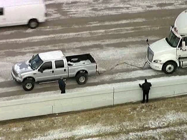 """[DFW] F250 Driver Who Freed Big Rig: """"I Just Pay It Forward"""""""