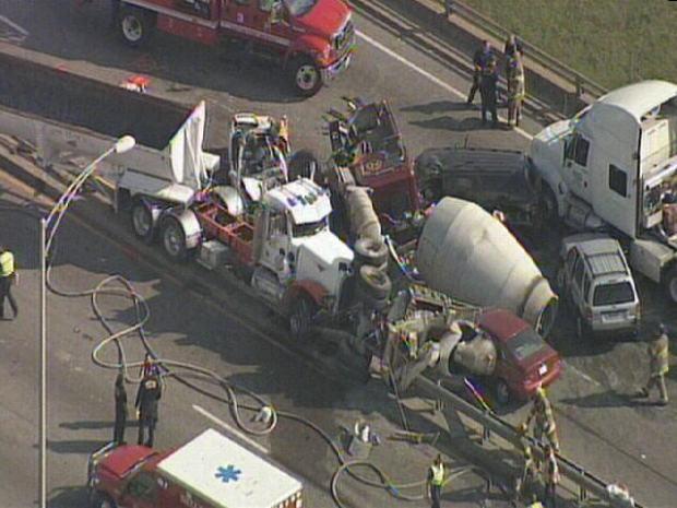 Photos: Crash Shuts Down I-30