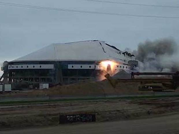 Texas Stadium Implosion: Your Photos