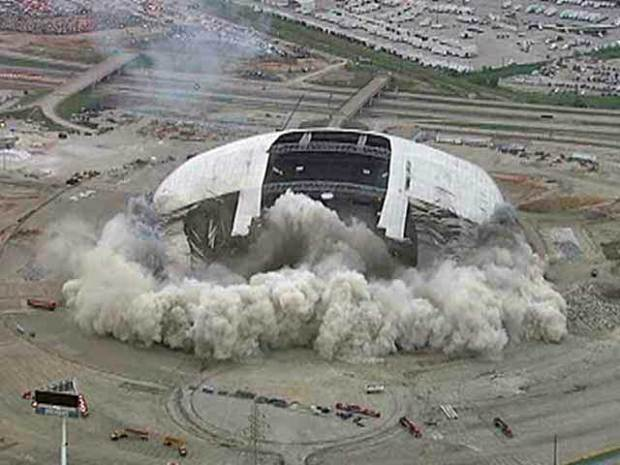 [DFW] Texas Stadium Implosion Chopper View
