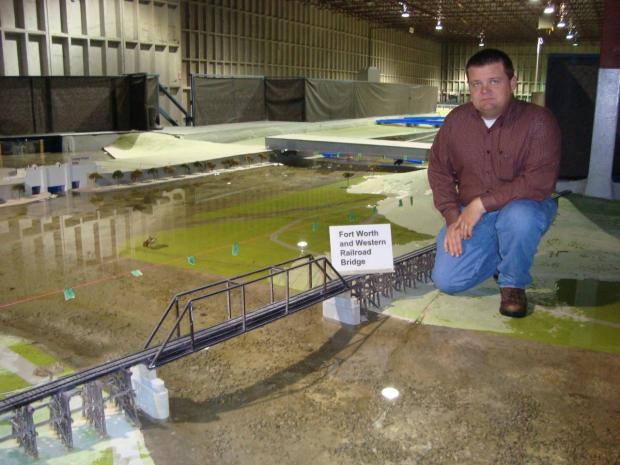 Fort Worth's Trinity River Uptown Scale Model