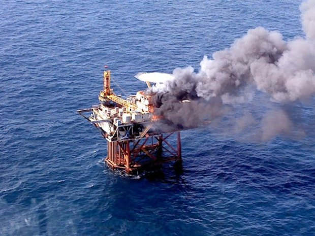 Oil Platform Explodes in the Gulf