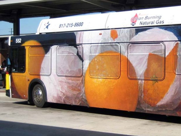 Fort Worth Adorns Buses With Artwork