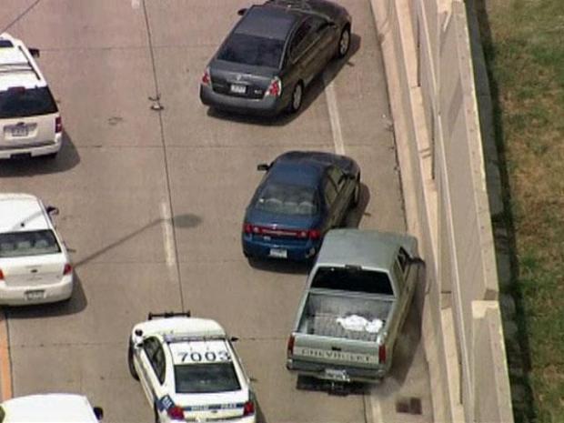 [DFW] DPD Chase Threads Through Dallas Traffic