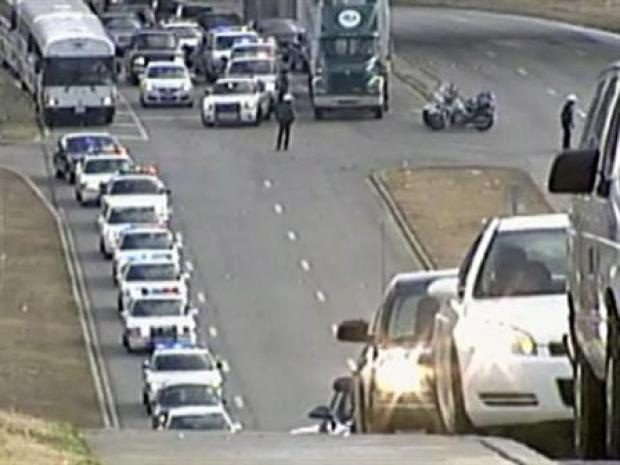 [DFW] Funeral Procession for Fallen Officer Stretches for Miles