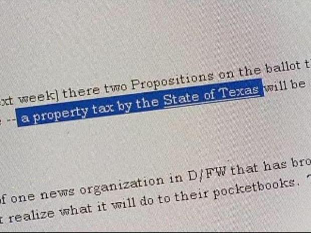 [DFW] State Property Tax? Don't Count On It