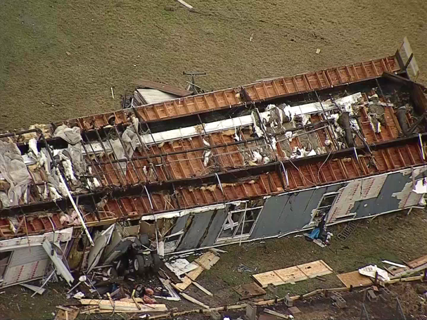 3 Hurt After Powerful Storms Damage Homes in Johnson County