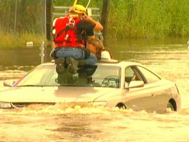 [DFW] Woman Rescued from High Water