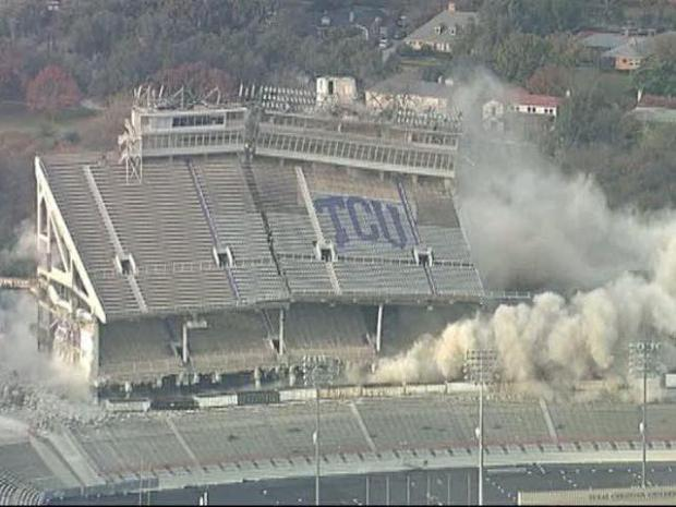 [DFW] Amon Carter Implosion: Aerial View