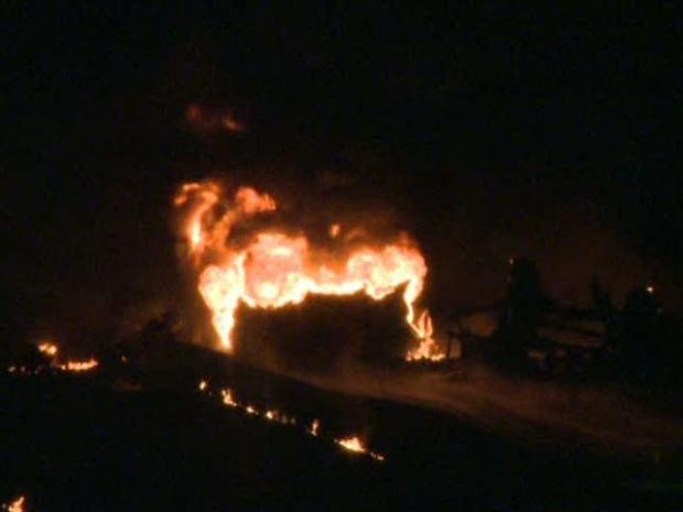 [DFW] Tanker Fire Closes Interstate 30