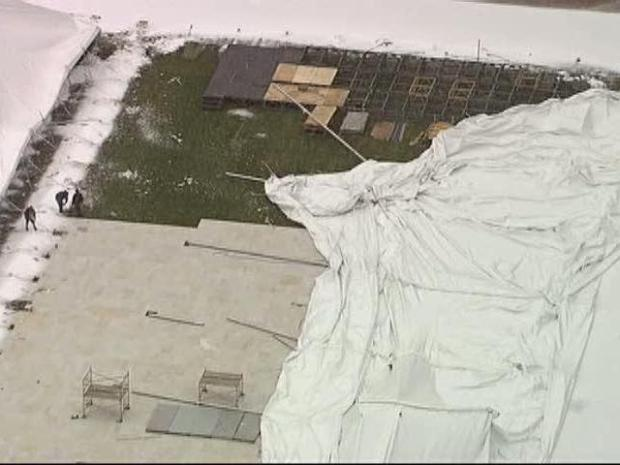 [DFW] Snow Collapses Super Bowl Party Tent at Fair Park (Raw Video)