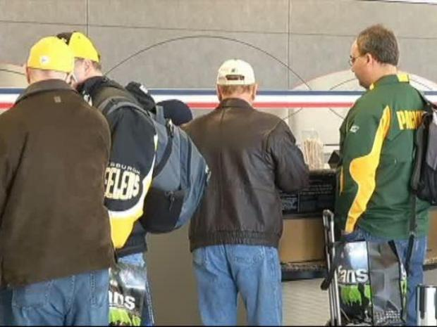 [DFW] Super Bowl Fans Leave North Texas