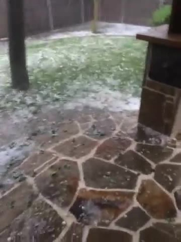 Hail and Heavy Rain in Frisco
