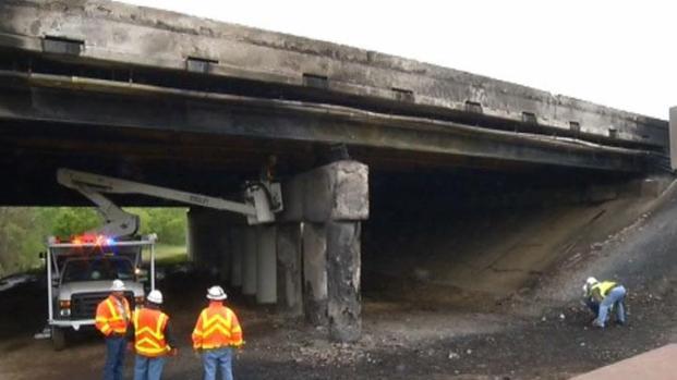 [DFW] Intense Heat After Fiery Crash Damages Bridge