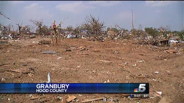 [DFW] Granbury Families Return To Destroyed Homes