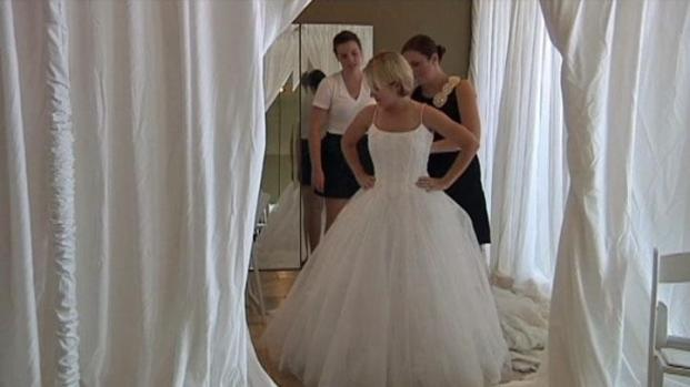 Free dresses for military brides nbc 5 dallas fort worth for Free wedding dresses for military brides
