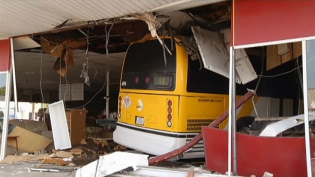 [DFW] DART Bus Slams Into Store