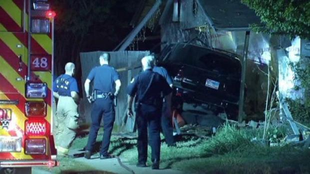 [DFW] One Dead After SUV Slams Into Home