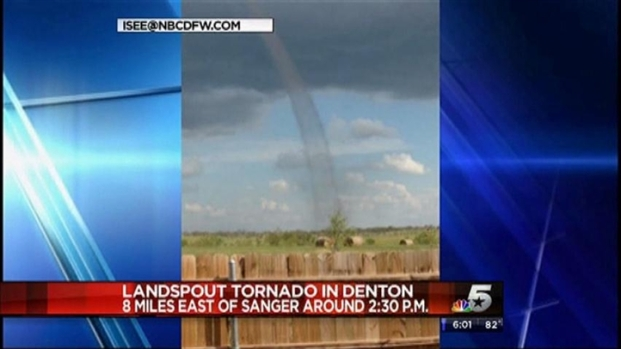 [DFW] Landspout Tornado Touches Down In Denton County