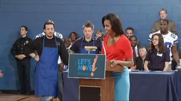 [DFW] First Lady Encourages Healthy Eating