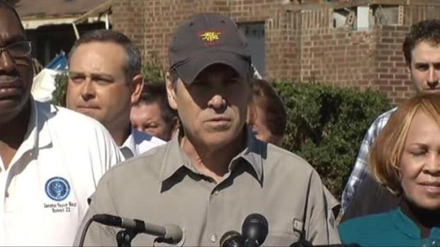 [DFW] Gov. Perry Tours North Texas Tornado Damage