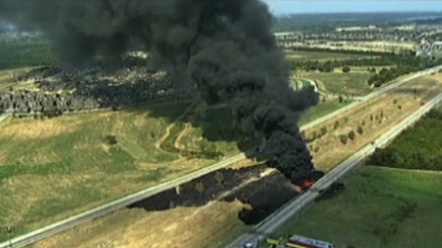 [DFW] Highway 114 Repaired After Fiery Crash