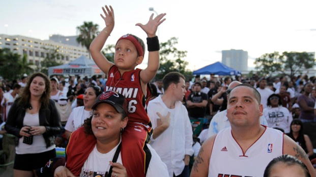 Heat Fans Rally At the Triple-A