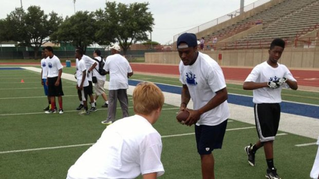 [DFW BSB]  Brandon Carr Holds First Football Camp