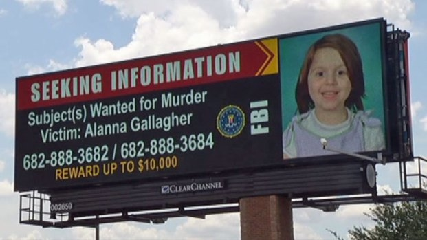 [DFW] FBI Billboard Seeks Help in Case of Slain Saginaw Girl