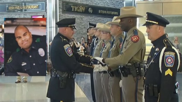 [DFW] Fallen Officer Honored with Honor Flag