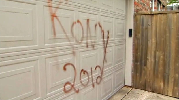 [DFW] KONY 2012 Graffiti Covers Lewisville Neighborhood