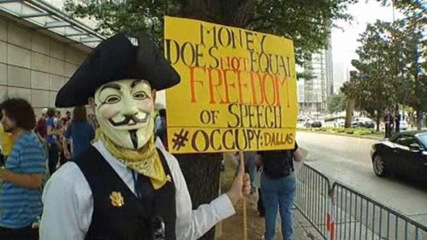 [DFW] Occupy Dallas Rallies Outside Federal Reserve