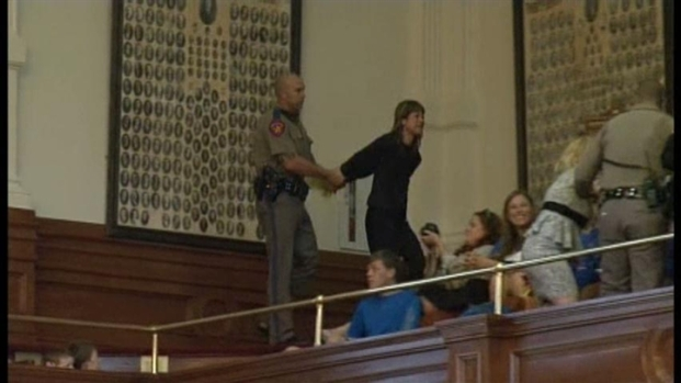 [DFW] Protestors Removed From Texas House