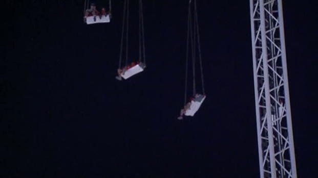[DFW] RAW VIDEO: Stranded Riders Dangle 165 Feet in Air