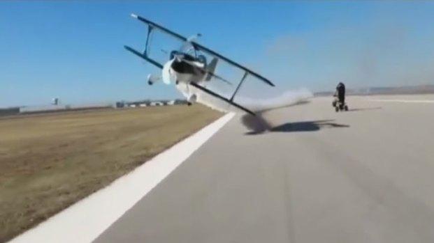 [DFW] FAA Questions Stunt Plane Viral Video