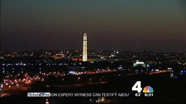 [DC] National Monument Lights Up for First Time