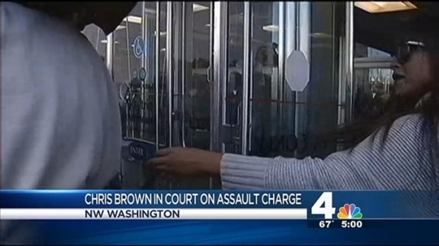 [DC] Wild Scene at Chris Brown Court Appearance