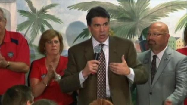 [DFW] Gov. Perry Talks About New Jobs