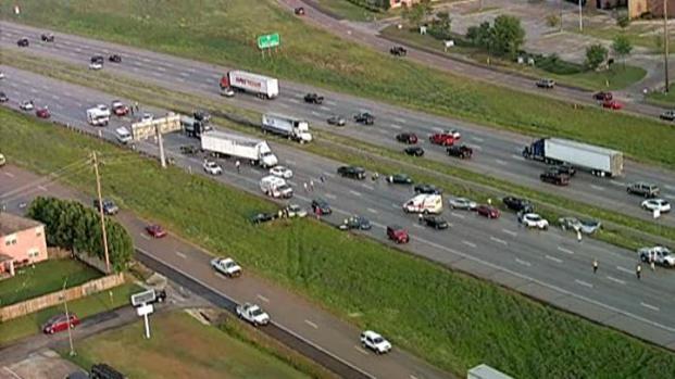 [DFW] Dozens Involved in Chain-Reaction Crash Along I-20