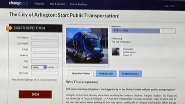 [DFW] UTA Students Starts Petition for Public Transportation